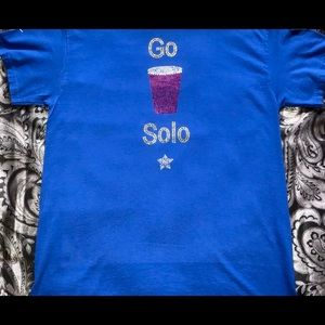 BLING SOLO CUP TEE SZ M